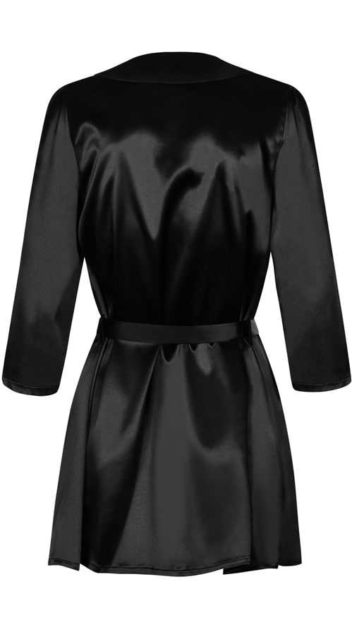 Vixson Black Satin Robe