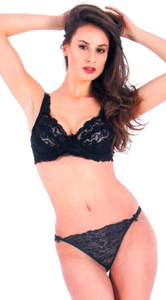 VIXSON - Vixson Lacy Black Bra Set