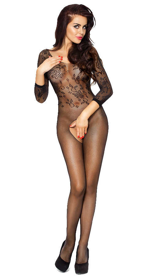 Vixson Long Sleeve Black Bodystocking