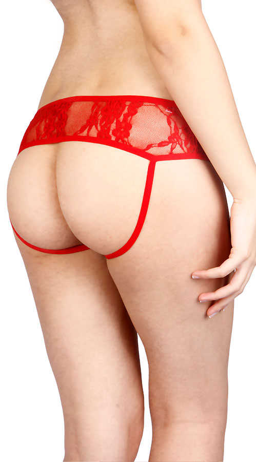 Vixson Open Red Back Panty