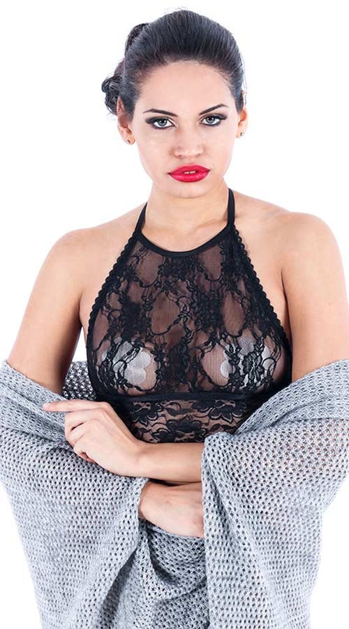 Vixson Temptation Black Lace Bralette