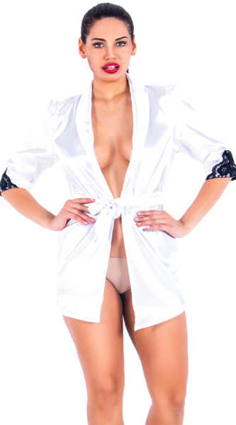 VIXSON - Vixson White Satin Robe